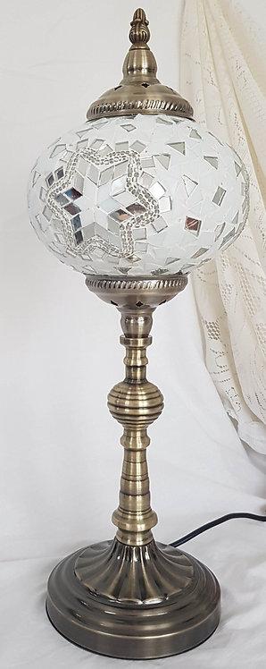 White Mosaic Tall Lamp