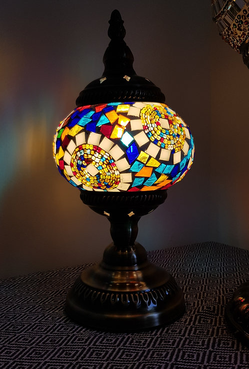 Turkish Morrocan Mosaic Stand Lamp