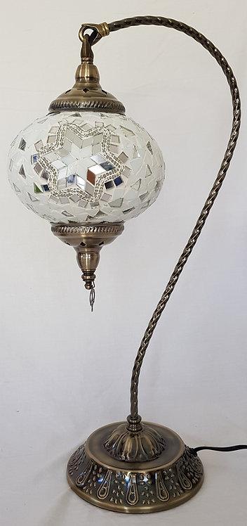 XLWhite Mosaic Swan Necked Lamp