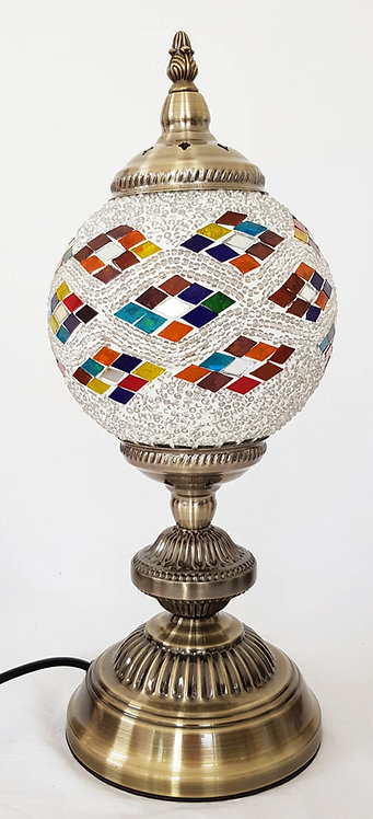 Flowing Dimonds White Mosaic Large Stand Lamp