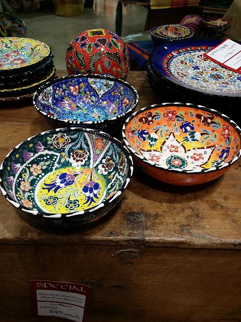 3x15cm Handpainted Ceramic Bowls
