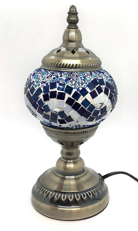 Ocean Swirl Mosaic 13cm Stand Lamp