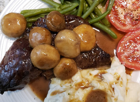 Bulletproof Chaga and Mushroom Gravy with Moose Steak Drippings (Keto friendly and Gluten free)