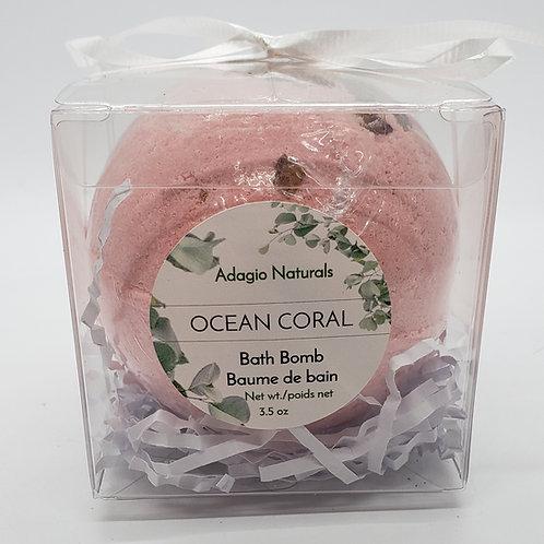 BATH BOMB - OCEAN CORAL