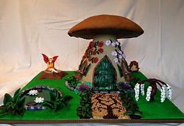 Gingerbread fairy mushroom house
