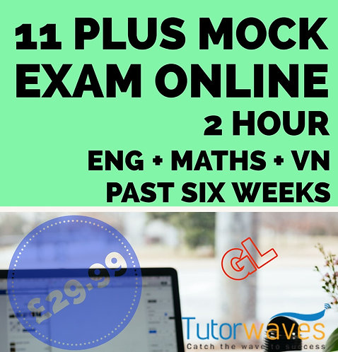 Online 11 Plus Mock Exam (CEM)– Past Six Weeks Revise Pack