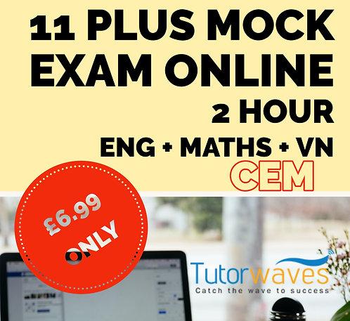 Online 11 Plus Mock Exam (CEM)– Saturday 19th Sept 2020