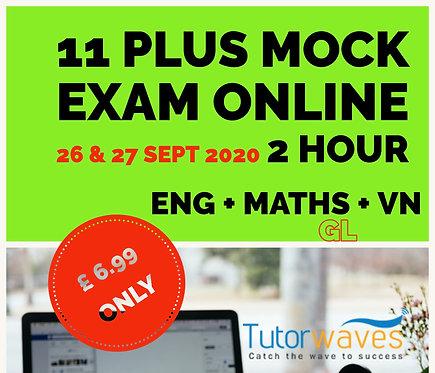 Online 11 Plus Mock Exam (GL)– 26th & 27thSept 2020
