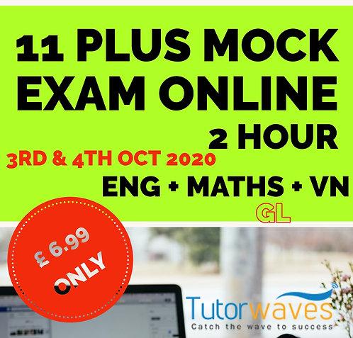 Online 11 Plus Mock Exam (GL)– 3rd &4th Oct 2020