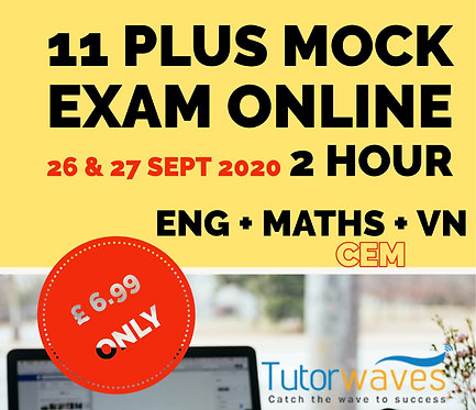 Online 11 Plus Mock Exam (CEM)–  26th & 27thSept 2020