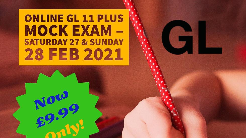 Past - Online GL 11 Plus Mock Exam – Saturday 27 & Sunday 28 Feb 2021
