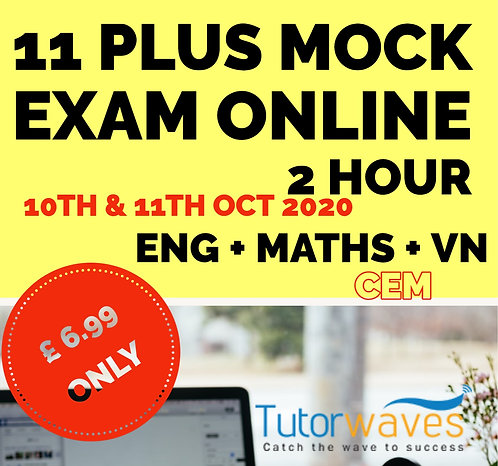Online 11 Plus Mock Exam (CEM)–  10th &11th Oct 2020