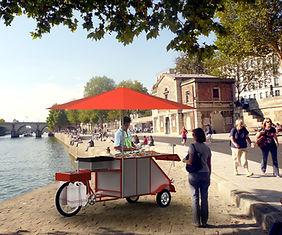 food bike, cuisine de rue, cuisine mobile, vélo, triporteur