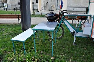 table banc intégré cuisine mobile