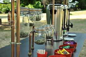 dégustation, thé, tisane, stand mobile, chariot, design, sur mesure, zambules