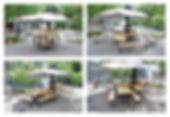 déploiement, cheminambule, modulable, concept, triporteur, vélo, cheminée, mobile, itinérant