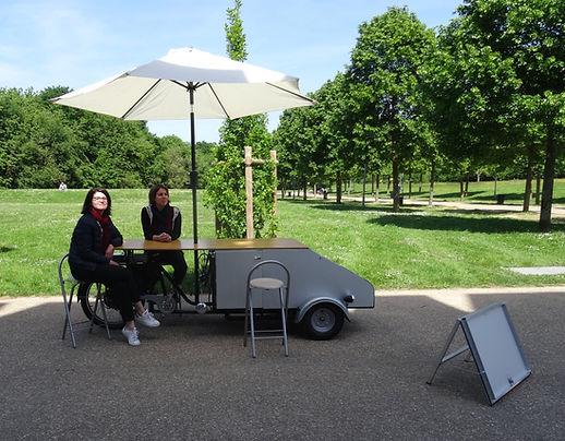 triporteur, espace de réunion mobile, office du tourisme, vélo