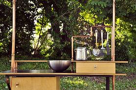 cuisine mobile, en bois, fabricant, conception, sur mesure, design, cuisine mobile
