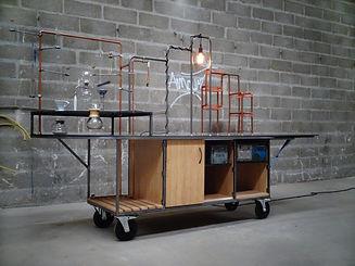 café slow, kaouadji, zambules, design, fabrication, achat, prix, conception sur mesure, esthétique industrielle, bamboo, cuisine sur roues, cuivre