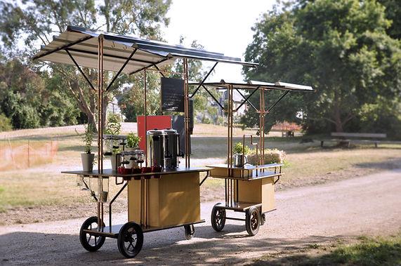buissonnières, chariot, esthétique chantier, personnalisation, achat, designer, coffee shop, mobile, bar mobile, zambules