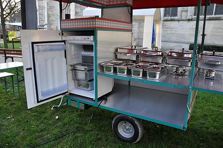 frigo chafing dish, cuisine sur vélo, triporteur