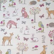 woodland animals - cream