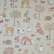 woodland animals - taupe