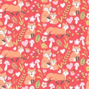 fox family - red