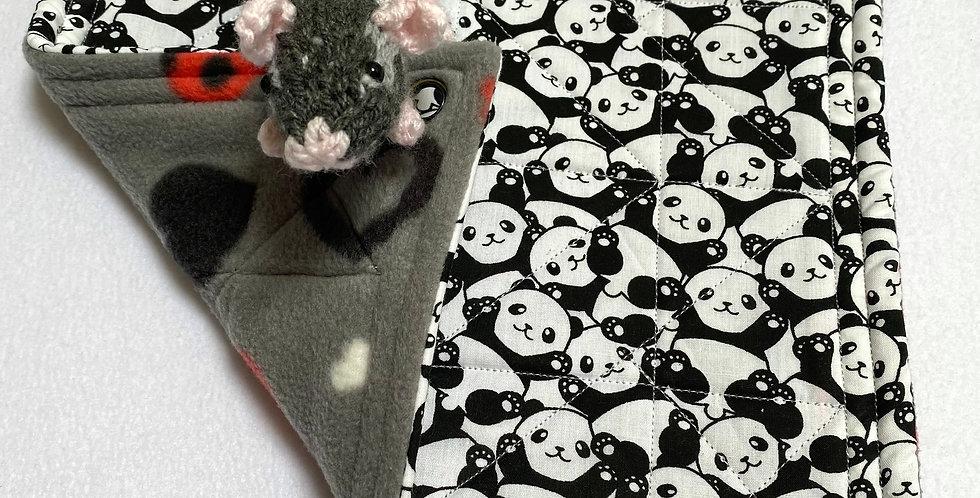 Pandas &  hearts single