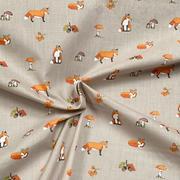 exploring foxes - grey/natural