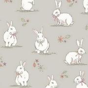 woodland bunnies - taupe