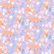 fox family - lilac