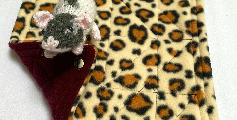 Cheetah & burgundy single