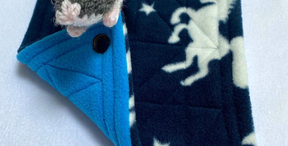 Navy unicorns & turquoise single