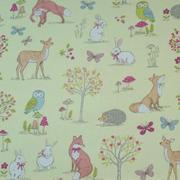 woodland animals - green