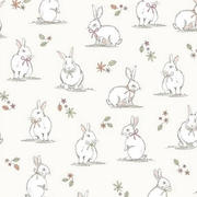 woodland bunnies - cream