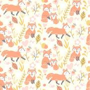 fox family - cream