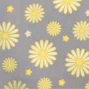 daisies - powder blue/yellow