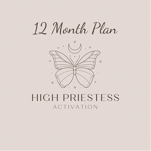 High Priestess Activation :: 12 Month Payment Plan