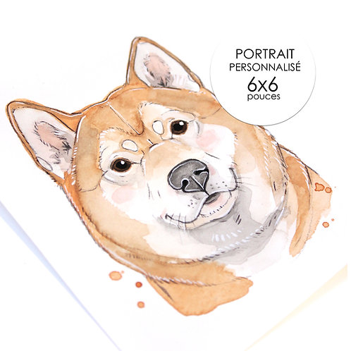 Portrait Personnalisé - ANIMAUX ( Format 6 x 6 )