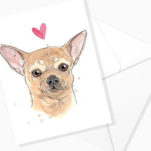 Carte de souhaits Chihuahua