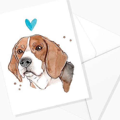 Carte de souhaits Beagle