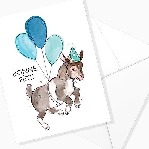 Carte de souhaits - Bonne Fête Chèvre