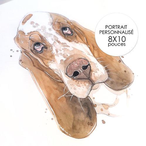 Portrait Personnalisé - ANIMAUX ( Format 8 x 10 )