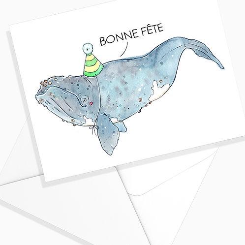 Carte de Fête - Baleine Franche 2