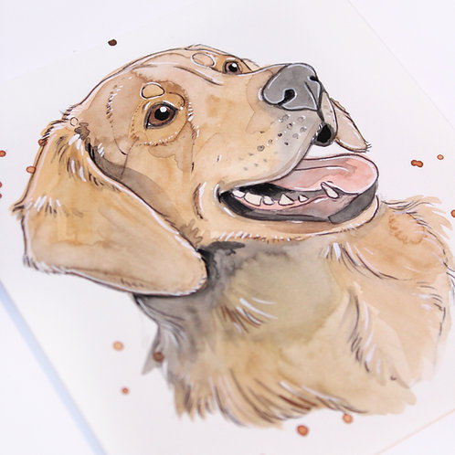 MINI AQUARELLE - Golden Retriever