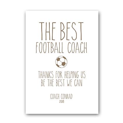 Football Coach Sign, The Best Football Coach Sign