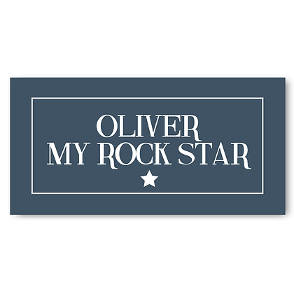 Rock Star Sign (Personalised Rock Star Sign)