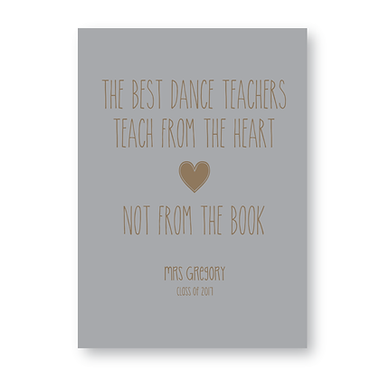 Personalised Teacher Sign Dance Teacher