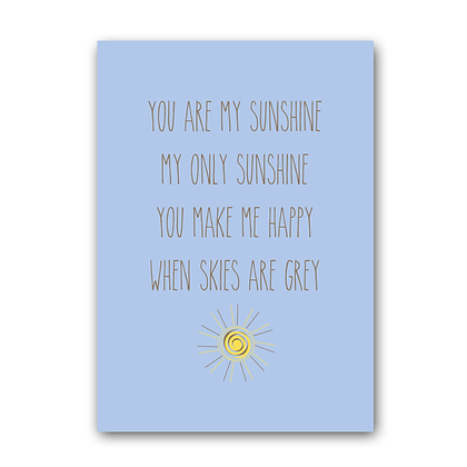 You Are My Sunshine! Wall Sign,Print